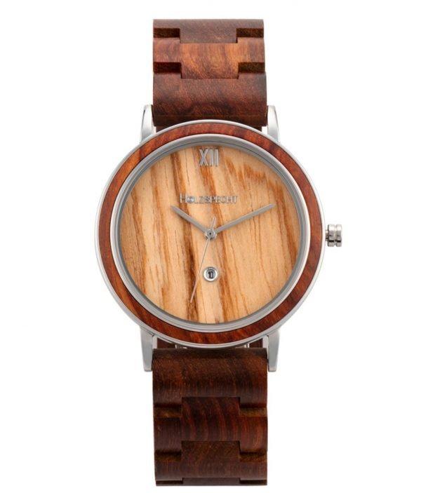 Holzspecht Armbanduhr aus Holz Feuerkogel