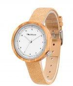 Holzspecht Armbanduhr aus Holz Frühlingsstern