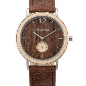 Wristwatch Karwendel - Wood and Vegan Leather
