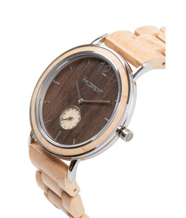 Holzspecht wood watch Karwendel walnut - maple band