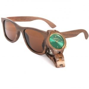 Wood Watch and Wood Sunglasses Walnut