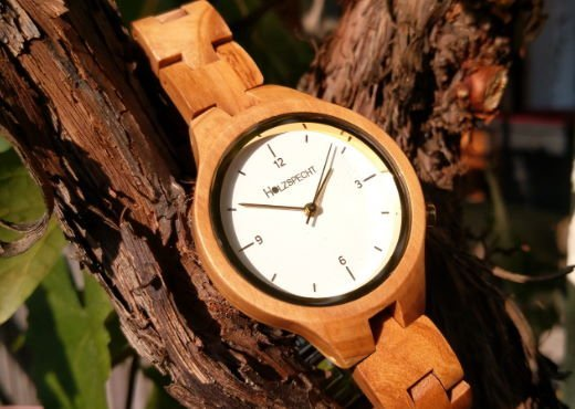 Wooden Watch Waldgoldstern Olive