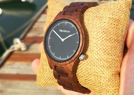 wood watch Dachstein walnut