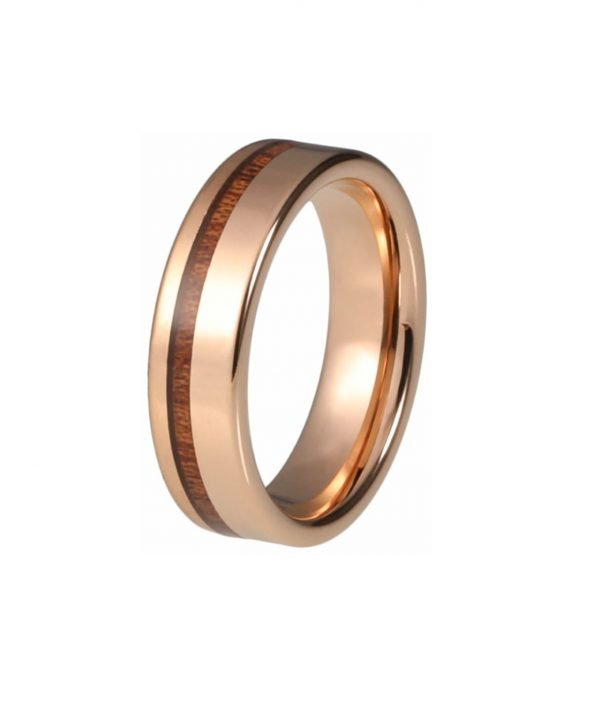 Ring Veritate from tungsten and wood