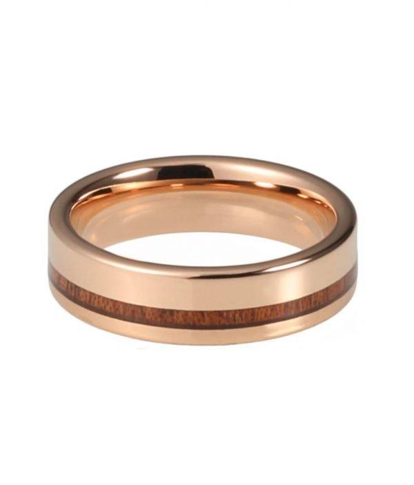 Ring Veritate aus Tungsten und Holz