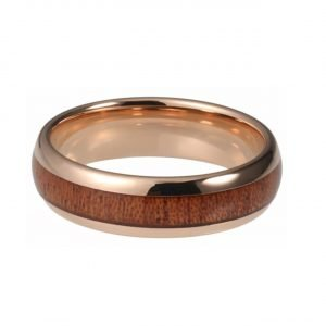 Holzspecht Tungsten Ring with Wood