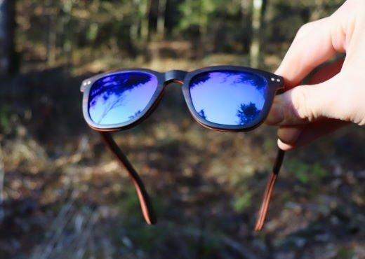 Holzsonnenbrille Bergsicht