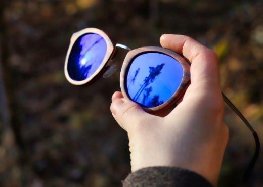 Holzsonnenbrille Freiblick Ebenholz