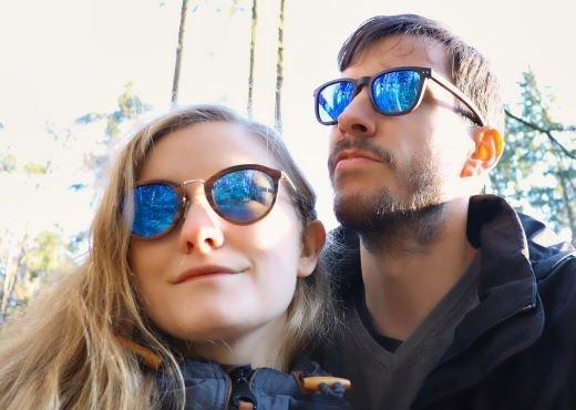 Holzspecht Holzsonnenbrille