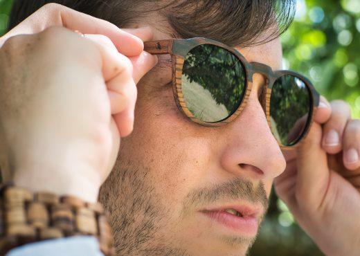 Holzspecht Holzsonnenbrille Lichtblick