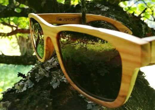 Sunglasses out of Wood Weitblick Olive