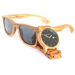Wood Watch and Wood Sunglasses Olive