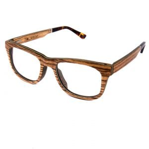 Optical Wooden Glasses Augenblick Zebra Wood