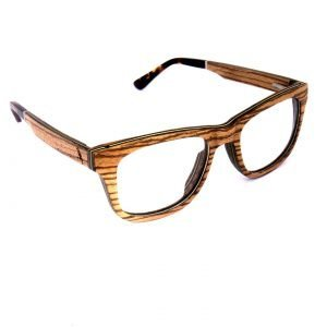 Holzspecht optical wooden glasses Augenblick zebra wood