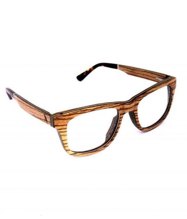 Holzspecht Optische Holzbrille Augenblick Zebrano