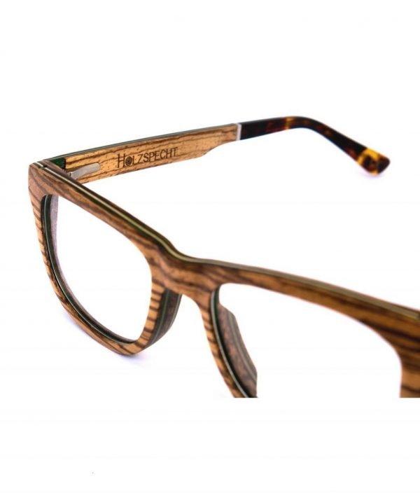 Optische Holzbrille Augenblick Zebrano