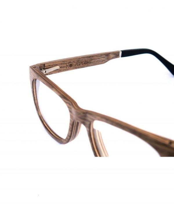 Holzspecht optische Holzbrille Augenblick Walnuss