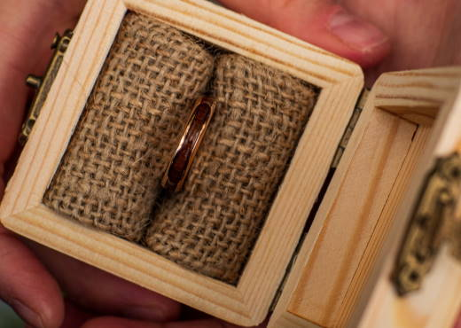Holzspecht Ring with Wood