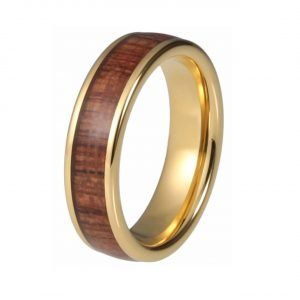 Holzspecht Golden Ring with Wood