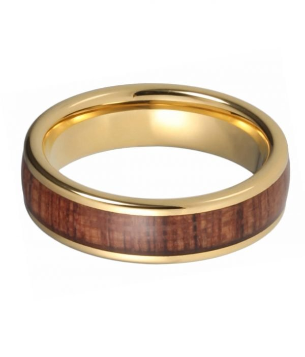 Holzspecht Ring Regulus from Tungsten and Wood