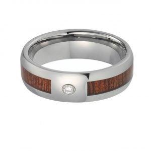 Ring La Superba mit Holz und Kristall