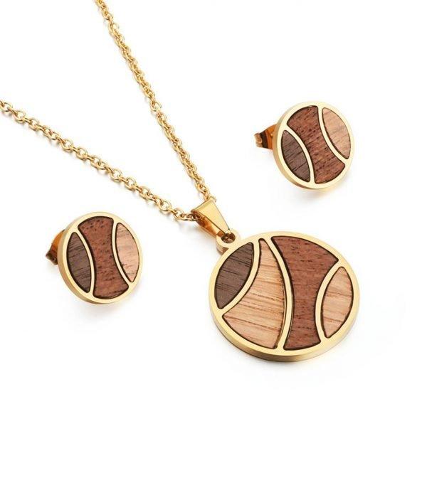 Ohrringe und Halsketten aus Holz