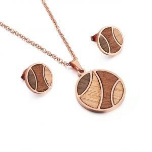 Holzspecht Ohrringe und Halsketten aus Holz