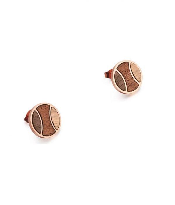Ohrringe aus Holz Rosé