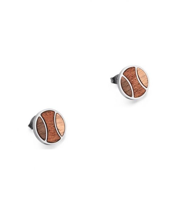Ohrringe aus Holz Silber